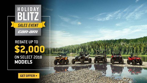 Can-Am - Holiday Blitz Sales Event - All Maverick X3, Maverick, Commander, Renegade and Outlander Offers